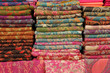 pashmina shawls display