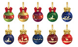 Hunting Christmas decoration with ribbon - Series 10 decorations