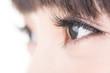 Beautiful woman eyes with long eyelashes