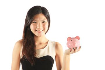 Confident Asian Student