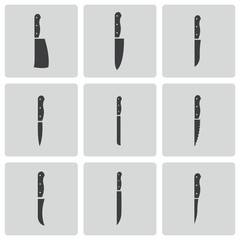 Vector black landmark icons set