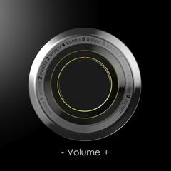 Black dial volume control