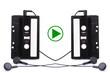 Audio cassete. music, sign