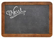 new word on blackboard
