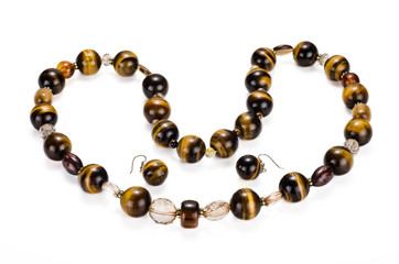 Tiger eye collar with earrings