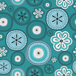 Seamless flower retro background pattern. Vector