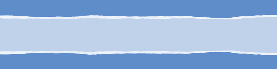 Ripped blue paper banner