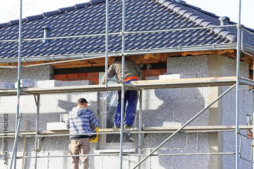 Styropor an Einfamilienhaus