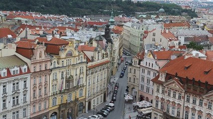 video recording of the roofs of prague