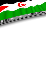 Designelement Flagge West Sahara