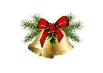Tannengrün und Weihnachtsglocken