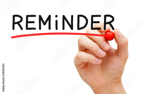 Reminder Red Marker