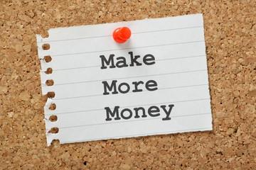 Make More Money on a cork notice board
