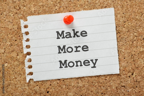 Make More Money on a cork notice board