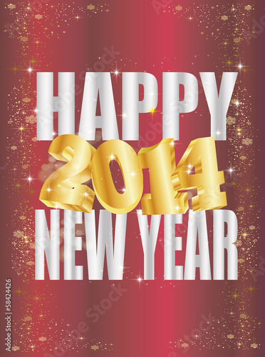 happy 2014 new year vector