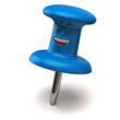 Fun blue thumbtack