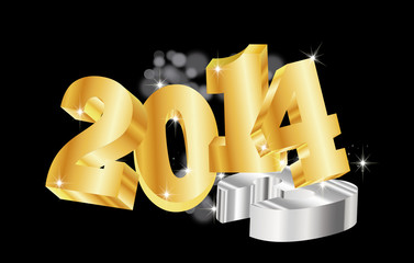 number 2014 new year background