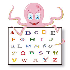 PULPO CARTEL alfabeto ESP