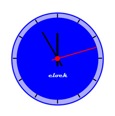 Blue clock face - vector illustration.