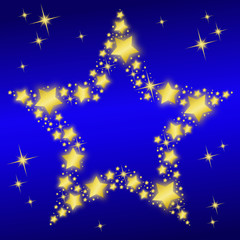 Star-shaped Night Sky