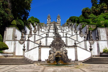Bom Jesus do Monte sanctuary near the city of Braga, Portugal