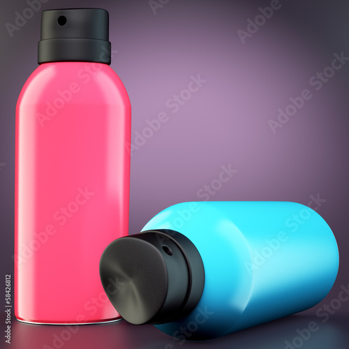 Two spray cans