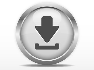 Grey download web button