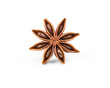 Extremely closeup view of anise star