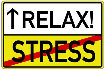 Stress Relax Schild  #131119-svg06