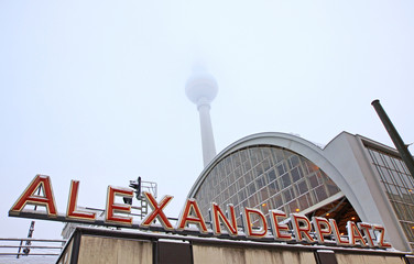 Building of AlexanderPlatz Railway station in Berlin