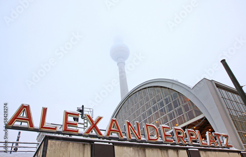 Building of AlexanderPlatz Railway station in Berlin