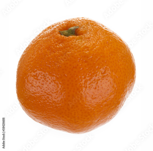 .fresh fruit tangerine isolated on white background