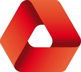 Logo triangolare rosso