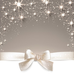 Christmas beige starry background.