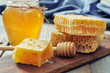 Honeycomb with honey dipper