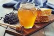 Honey in jar - 58429007