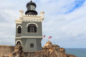 San Juan, Lighthouse at Fort San Felipe del Morro, Puerto Rico