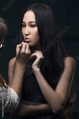poster of Portrait of beautiful young asian woman with esthetician