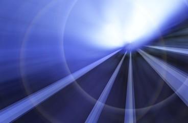 光とブルーの空間