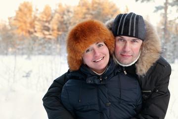 Portrait of happy couple on walk