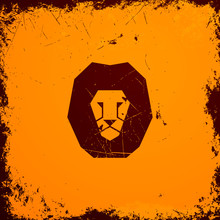 Vector Illustration d'un lion Icône
