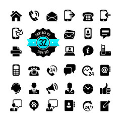 Web icon set. Contact us