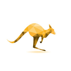 Kangaroo silhouette - vector illustration,abstract geometry