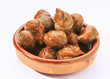escargot cooked in sauce served in earthenware dish