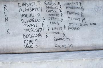 Runic Alphabet modern inscription