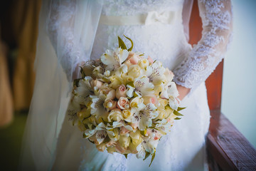 beautiful bouquet  in the the bride's hands