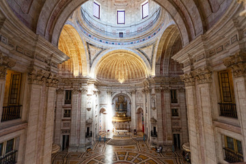 Interior of Santa Engracia church (Pantheon) in Lisbon, Portugal