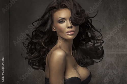 Amazing portrait of sensual woman