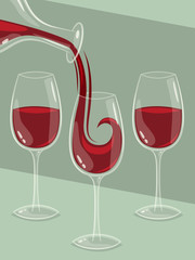 Wine background. Vector illustration.