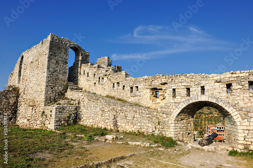 Part of the citadel of Berat